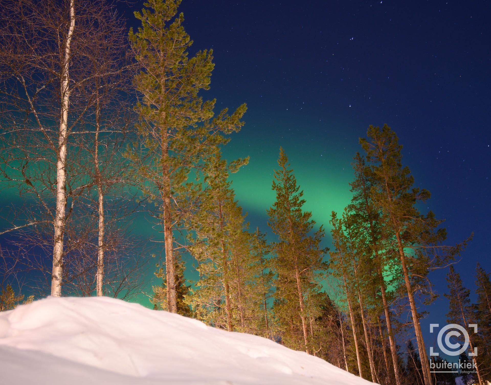 Het Noorderlicht in Lapland
